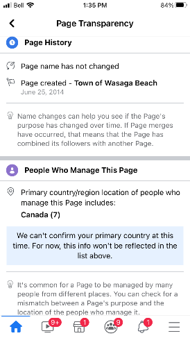Town of Wasaga Beach Facebook page image